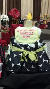diaper cake and out