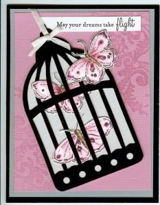 Bird cage w-butterflies