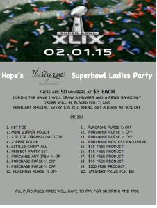 Superbowl ladies party