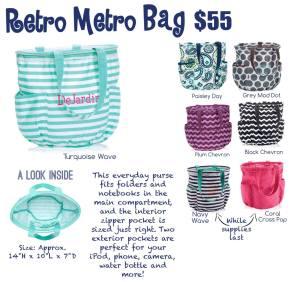 retro metro bag