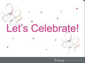 Let's Celebrate 1