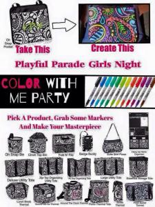 color with me party