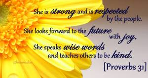 proverbs 31 w: flower