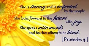 proverbs 31 w: flower