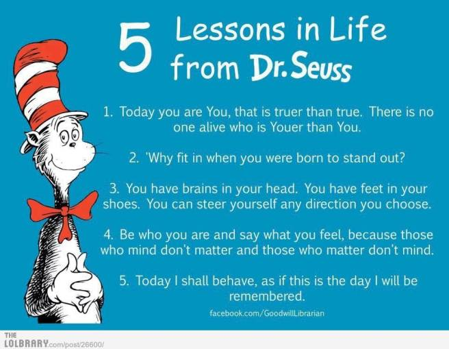 5 lessons dr. seuss