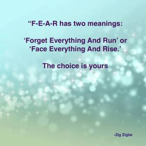 2 meanings of fear